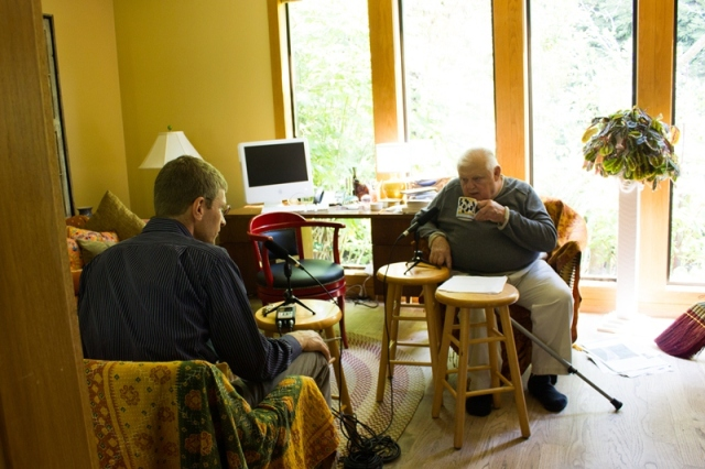 John Bischoff interviews Conrad Susa for the Conservatory's Oral History Project, July 2013