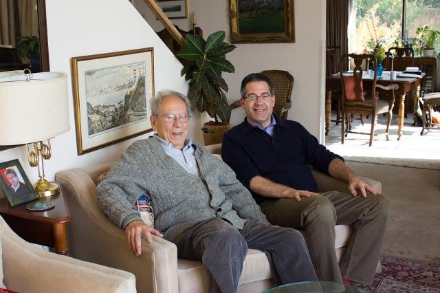 Robert Commanday and Corey Jamason after an oral history session, November 2014