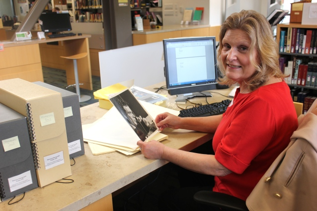 Wendy helping to preserve and inventory our print photo collection! October 2015