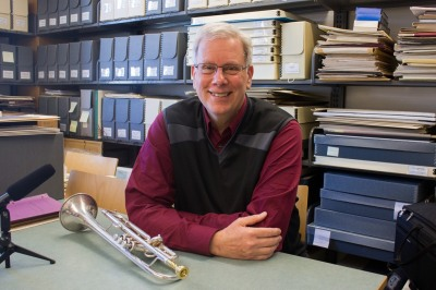 Dave Burkhart in the Conservatory's archives, June 2016